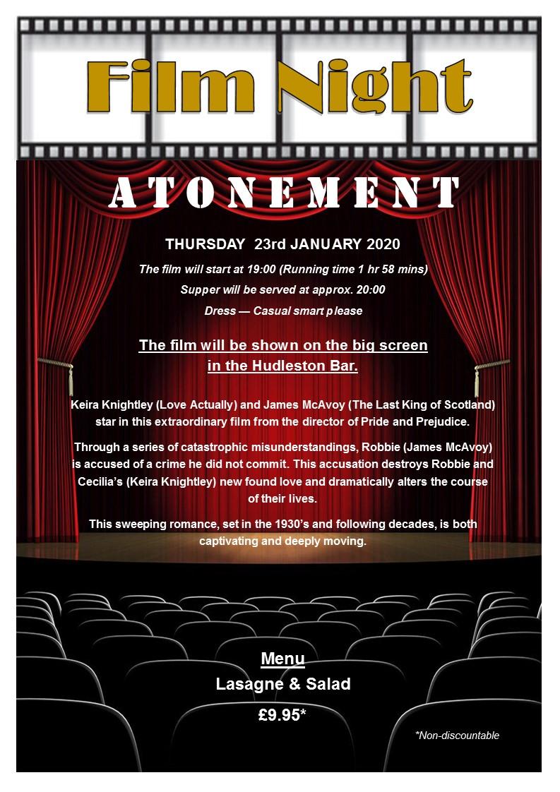 Film Night - 'Atonement'