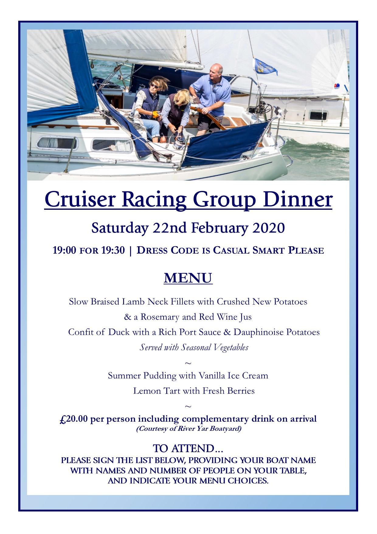 Cruising Racing Group Dinner