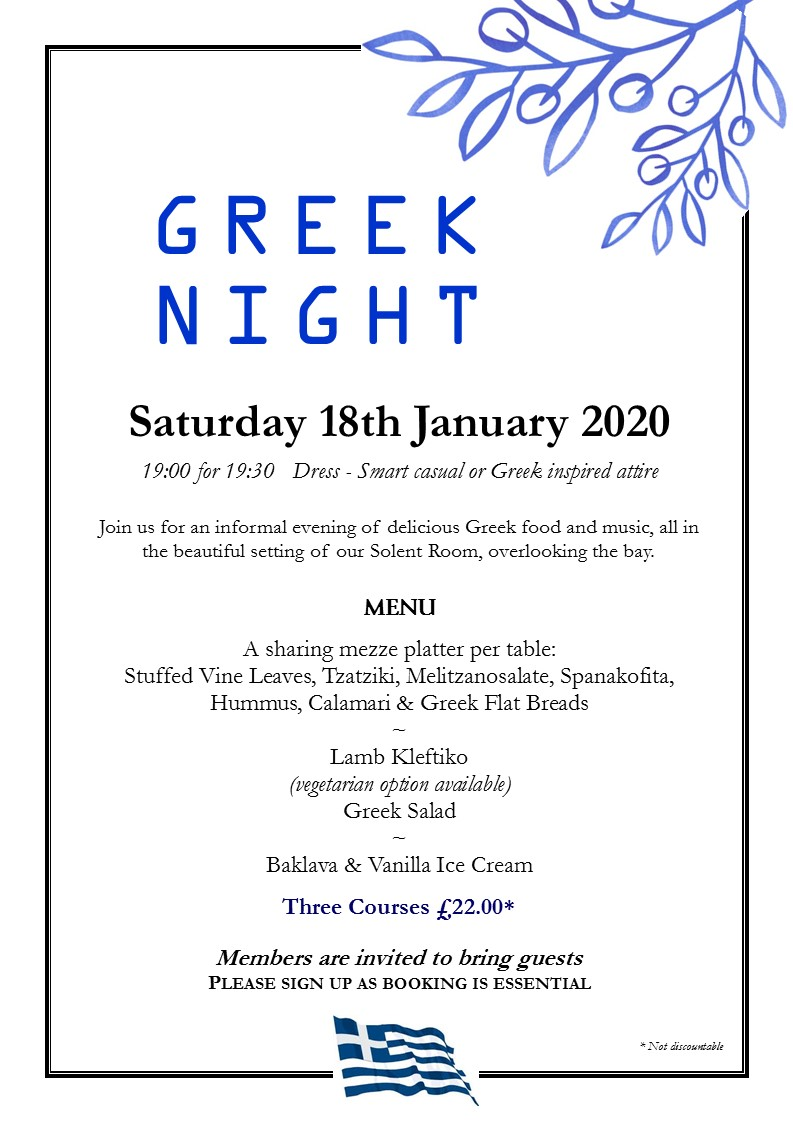 Greek Night - Fully Booked