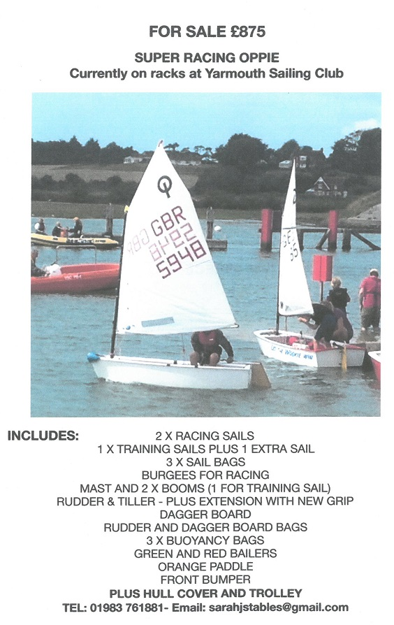 For Sale RSYC Oppie Racing Sails
